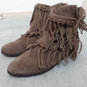 Fringe Ankle Booties